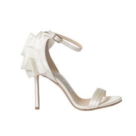 Jimmy choo - SANDALO IN SATIN AVORIO