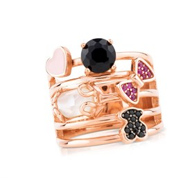 Tous  - PINK SILVER JOIN RING