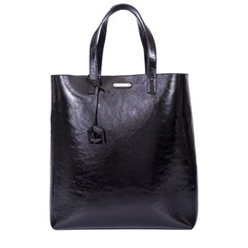 Saint Laurent Paris - BLACK VARNISH SHOPPING BAG