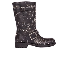 Jimmy choo - BLACK LEATHER BIKER BOOTS
