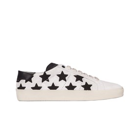 Saint Laurent Paris - SNEAKERS SCAMOSCIATE STELLE NERE