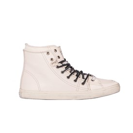 Saint Laurent Paris - LEATHER AND COTTON SNEAKERS