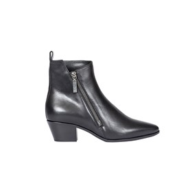 Saint Laurent Paris - BLACK LEATHER ANKLE BOOTS