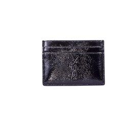 Saint Laurent Paris - PATENT LEATHER CREDIT CARD CASE