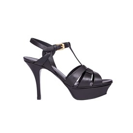 Saint Laurent Paris - LEATHER TRIBUTE SANDALS