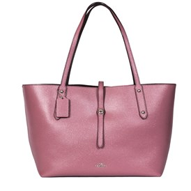 Coach - PINK LEATHER TOTE BAG