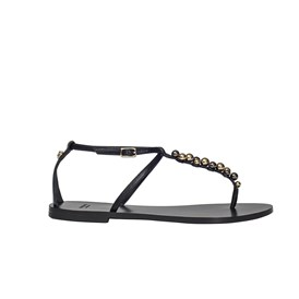 VERSACE - STUDDED T-BAR SANDALS