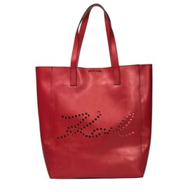 KARL LAGERFELD - K/SIGNATURE PERFORATED SHOPPER BAG