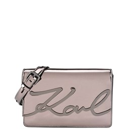 KARL LAGERFELD - K/SIGNATURE GLOSS SHOULDERBAG
