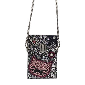 KARL LAGERFELD - SPARKLE MINAUDIERE SHOULDER BAG