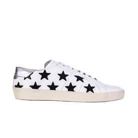 Saint Laurent Paris - Sneakers bianche stelle nere
