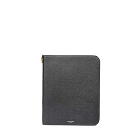 Saint Laurent Paris - Custodia tablet pelle nera