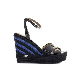 Sonia Rykiel - Black varnish wedge sandals
